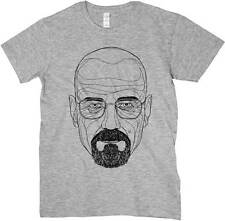 T-shirt Breaking Bad, T-shirt grey with drawing Heisenberg, Series Tv cult