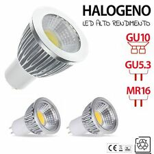 Halogenos LED GU10 / GU5.3 MR16 bombilla lampara LED BLANCO FRIO CALIDO 3W 5W 7W