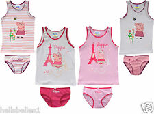 OFFICIAL PEPPA PIG VEST TOP & KNICKERS/BRIEF SET 2-3 4-5 6-7 YEARS