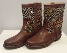Kilim & Natural Leather Handmade Moroccan Boots Yoss-M