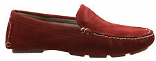 Hush Puppies Mens Monaco Red Suede Leather Moc Toe Slip On Shoes H103333 D44