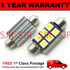 2X BLUE CANBUS NUMBER PLATE INTERIOR SMD LED BULBS 30 36 39 42 44MM FESTOON OC