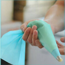 3 Sizes Reusable Silicone Icing Piping Cream Pastry Bag DIY Cake Decorating Tool