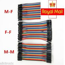 40 pcs 10cm Dupont Jumper Wire Ribbon GPIO Cable Pi Breadboard (F-F/ M-M / F-M)