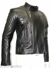 Men's TERMINATOR 3 BLACK Motorcycle Motorbike Cruiser Cowhide Leather Jacket