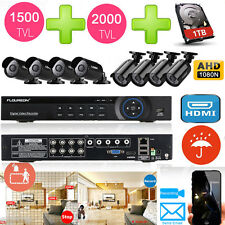 8CH HDMI DVR Outdoor 1500TVL 2000TVL CCTV Camera Home Security System 1TB KIT