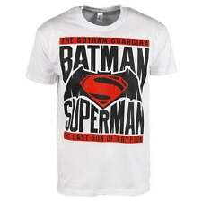 Uomo Batman v Superman Alba Di Giustizia T-Shirt con Logo Bianco Dark Knight