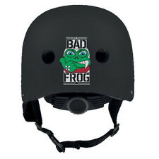 BAD FROG casco skateboard, longboard, pattini, monopattini REGOLABILE nero