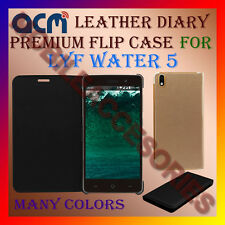 ACM-LEATHER PREMIUM FLIP FLAP CASE for LYF WATER 5 MOBILE FRONT & BACK COVER NEW