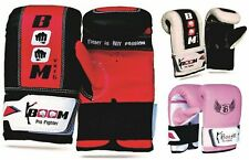 BOOM Prime Boxing Bag Mitts Gloves MMA Muay Thai Kick Boxing UFC Grappling Punch