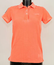 Superdry Shirt GSPIT048 - VINTAGE DESTROYED-SLV HIT PIQUE POLO Fluro Coral +Neu+
