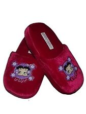 CUTE NEW OFFICIAL BETTY BOOP GIRLS LADIES PINK PLUSH SLIPPERS Sz 11/12 13/1 2/3