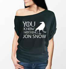 Game of Thrones inspired You Know Nothing Jon Snow Ladies short Sleeve t-shirt.