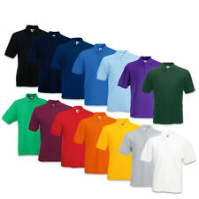5er Fruit of the Loom Poloshirt 65/35 Pique Polo Herren T-Shirt S M L XL XXL 3XL