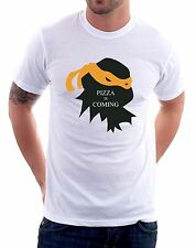 t-shirt Pizza is coming, tartarughe ninja - To give happiness by tshirteria f69