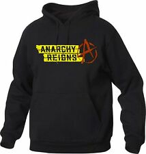 felpa Nera Anarchy Reigns - anarchia - To give happiness by tshirteria v53