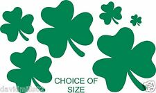 Shamrock Design - Strips of Cut Self Adhesive Vinyl Stickers in Various Sizes
