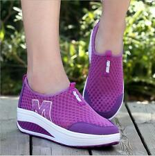 Mode Femmes Sneankers en Maille Plateforme Respirantes Baskets Chaussures