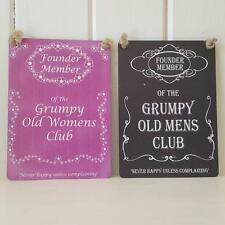 FOUNDER MEMBER OF THE GRUMPY OLD MENS OR WOMANS CLUB MINI CHIC SHABBY SIGN