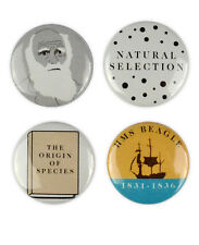 Charles Darwin Badges, Evolution, Natural Selection, Survival of the Fittest,