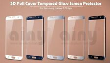 Samsung S7 Edge Curved Tempered Glass Gold Silver Black White Clear Protector