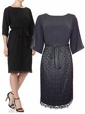 NEW ADRIANNA PAPELL FLORAL BLACK LACE DRESS 8 to 16