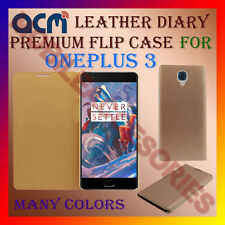 ACM-LEATHER PREMIUM FLIP FLAP CASE for ONEPLUS 3 MOBILE FRONT & BACK COVER