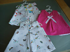 BABY GIRLS SPANISH STYLE SUMMER DRESS AND FRILLY PANTIES AGE 0-3 MONTHS