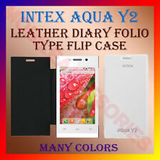 ACM-LEATHER DIARY FOLIO FLIP CASE for INTEX AQUA Y2 MOBILE FRONT & BACK COVER
