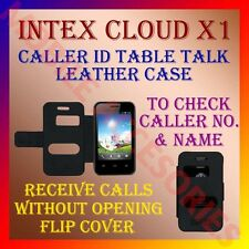 ACM-CALLER ID TABLE TALK CASE for INTEX CLOUD X1 MOBILE FLIP FRONT & BACK COVER