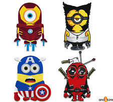 Patch Toppa Minion supereroi wolverine deadpool ironman capitan america 10 cm