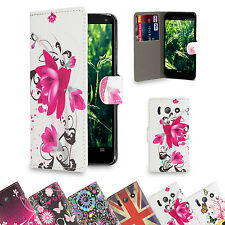 32nd Design Book Wallet Flip Case Cover for Huawei Phones + Screen Protector