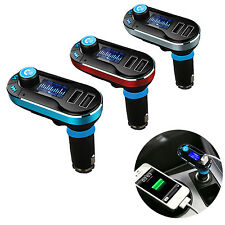 Wireless Bluetooth FM Transmitter Radio Car Kit MP3 Music Player LCD USB Charger