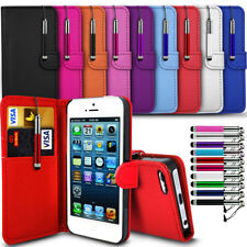 Vodafone Smart Mini 7 - Leather Wallet Card Slot Case Cover & Retractable Pen