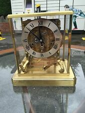 Schatz And Sohne Skeleton Mantle Clock Westminster Chime 7 Jewels