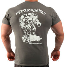 ANABOLIC MONSTER CHARCOAL  BODYBUILDING T-SHIRT WORKOUT  GYM CLOTHING J-97