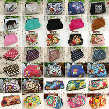 Retro Womens Girls Small Wallet Card Holder Case Coin Purse Clutch Handbag Bags