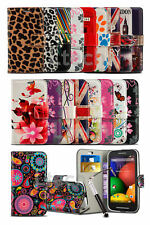 Vodafone Smart Mini 7 - Fresh Printed Pattern Wallet Case & Retractable Pen