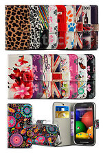 Vodafone Smart First 7 / VF200 - Printed Pattern Card Slot Wallet Case Cover