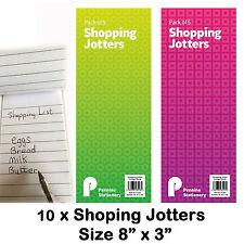 Shopping list jotters pads memo lined notebook handy size school home office lab