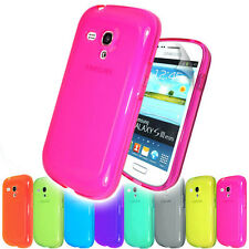 New Plain Clear Case Cover FOR Samsung Galaxy S3 Mini i8190 GT-i8190+Screen Film