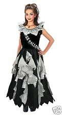Girls Miss Halloween Zombie Dead School Prom Queen Fancy Dress Costume 8-13 year