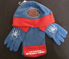 SPIDDERMAN HAT GLOVES AND SCARF SET ALSO MINNIE MOUSE AND PEPPA PIG
