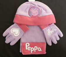 PEPPA PIG HAT GLOVES AND SCARF SET ALSO MINNIE MOUSE AND SPIDDERMAN