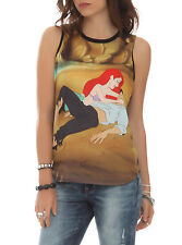 Disney Little Mermaid Ariel & Eric Beach Awakening Tank Top Size Small UK8