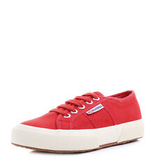 Boys Girls Kids Superga 2750 JCOT Red Lace Up Canvas Shoes Trainers UK Size