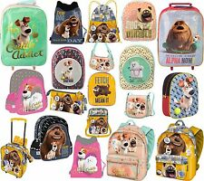 SECRET LIFE OF PETS BACKPACK,SHOULDER BAG,SHOPPING TROLLY RUCKSACK, GYM BAGS ETC