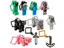 Minecraft 3D Key chain set of 10 key ring belt hangers toys Christmas Gift