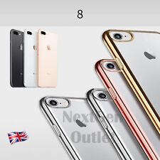 New Transparent TPU Soft Gel Silicone Case Cover Crystal Clear iPhone 8 7 & Plus