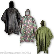 MILITAR PONCHO IMPERMEABLE CON CAPUCHA IMPERMEABLE SENDERISMO FESTIVAL